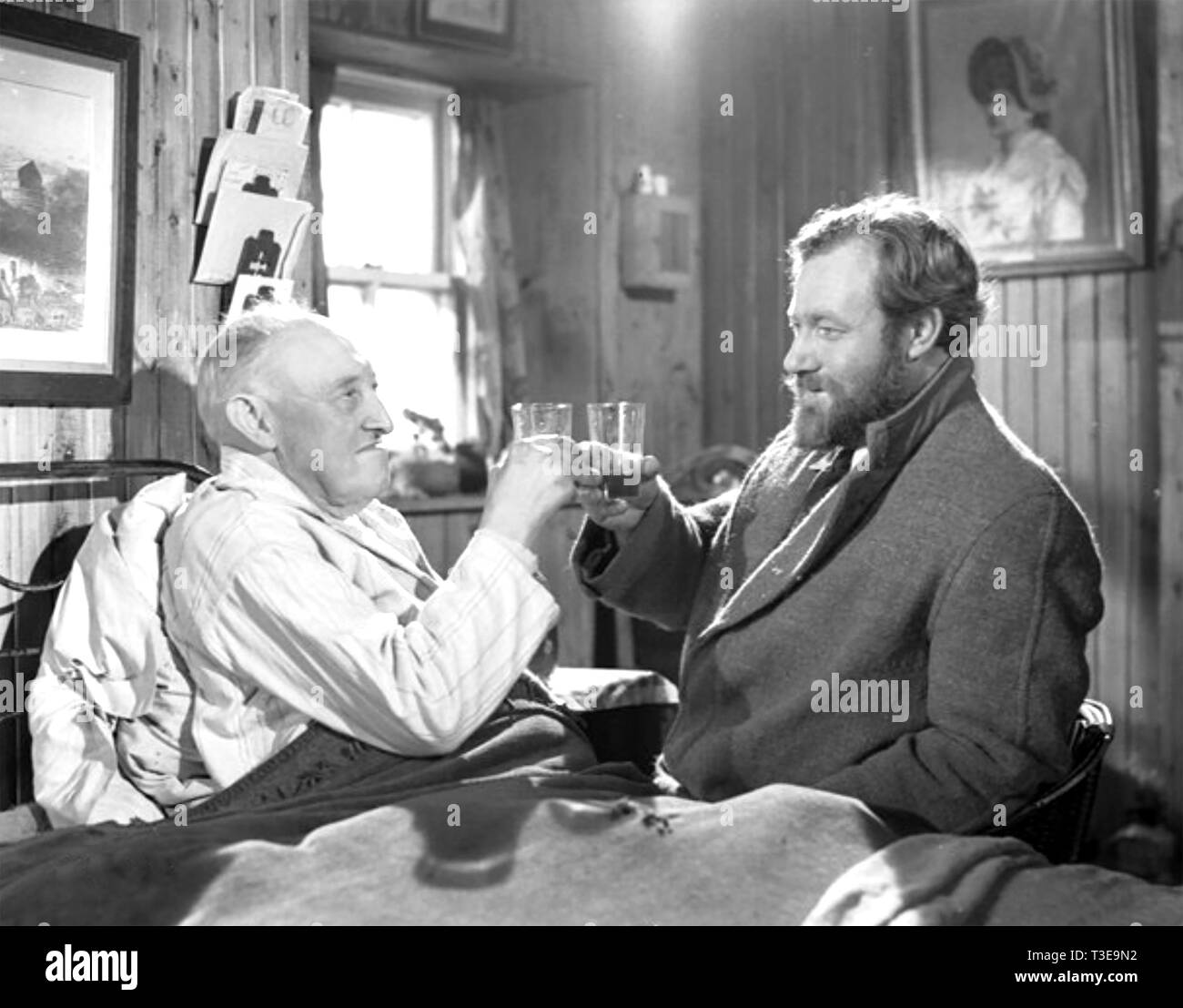 WHISKY GALORE 1949 Ealing Studios film with James Robertson Justice at right - Stock Image
