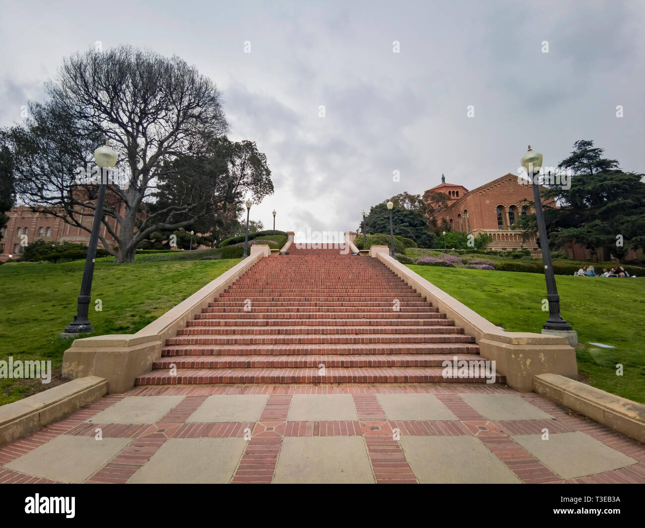 Los Angeles, APR 4: Long stair of UCLA on APR 4, 2019 at Los Angeles, California - Stock Image