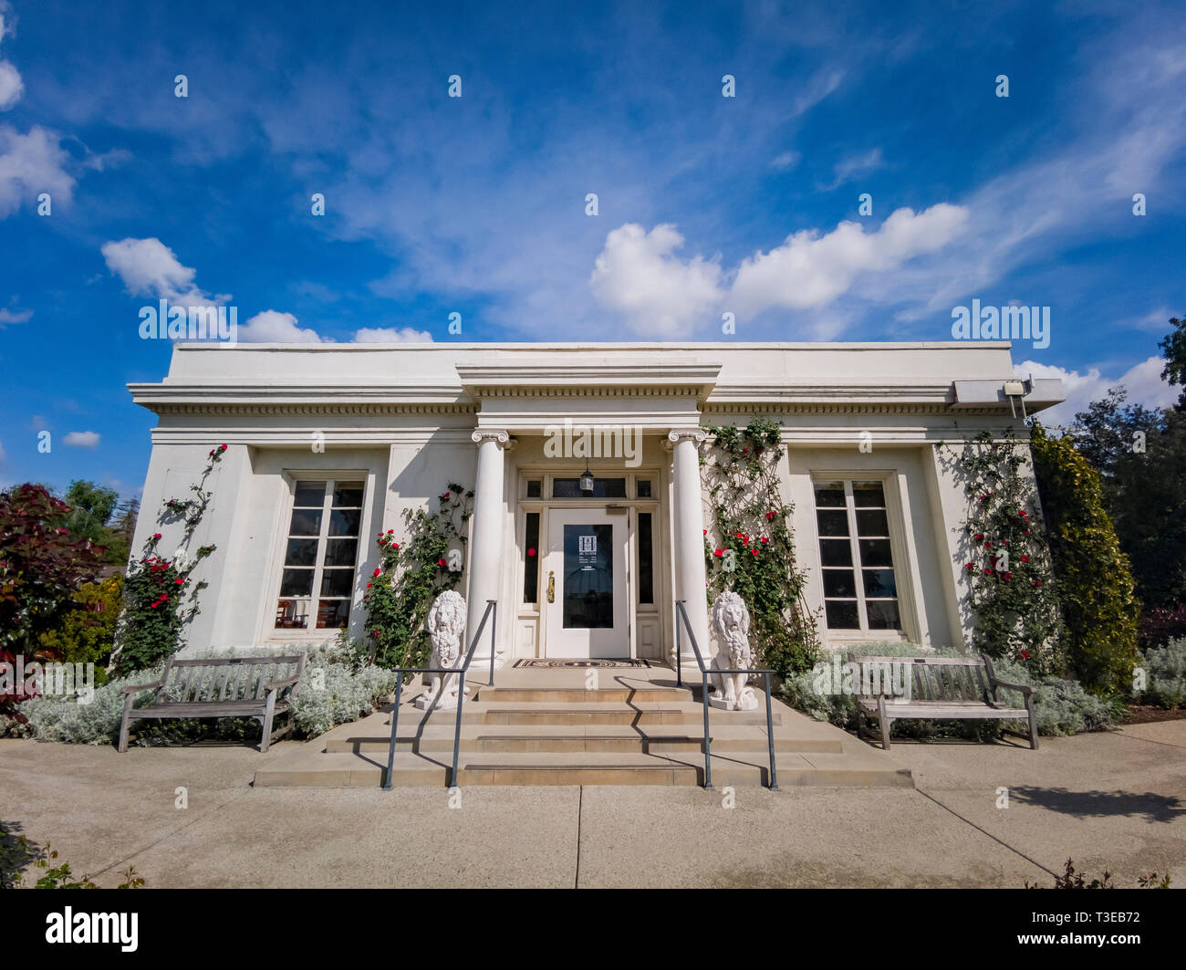 Los Angeles, APR 5: The Tea Room of Huntington Library on APR 5, 2019 at Los Angeles, California - Stock Image
