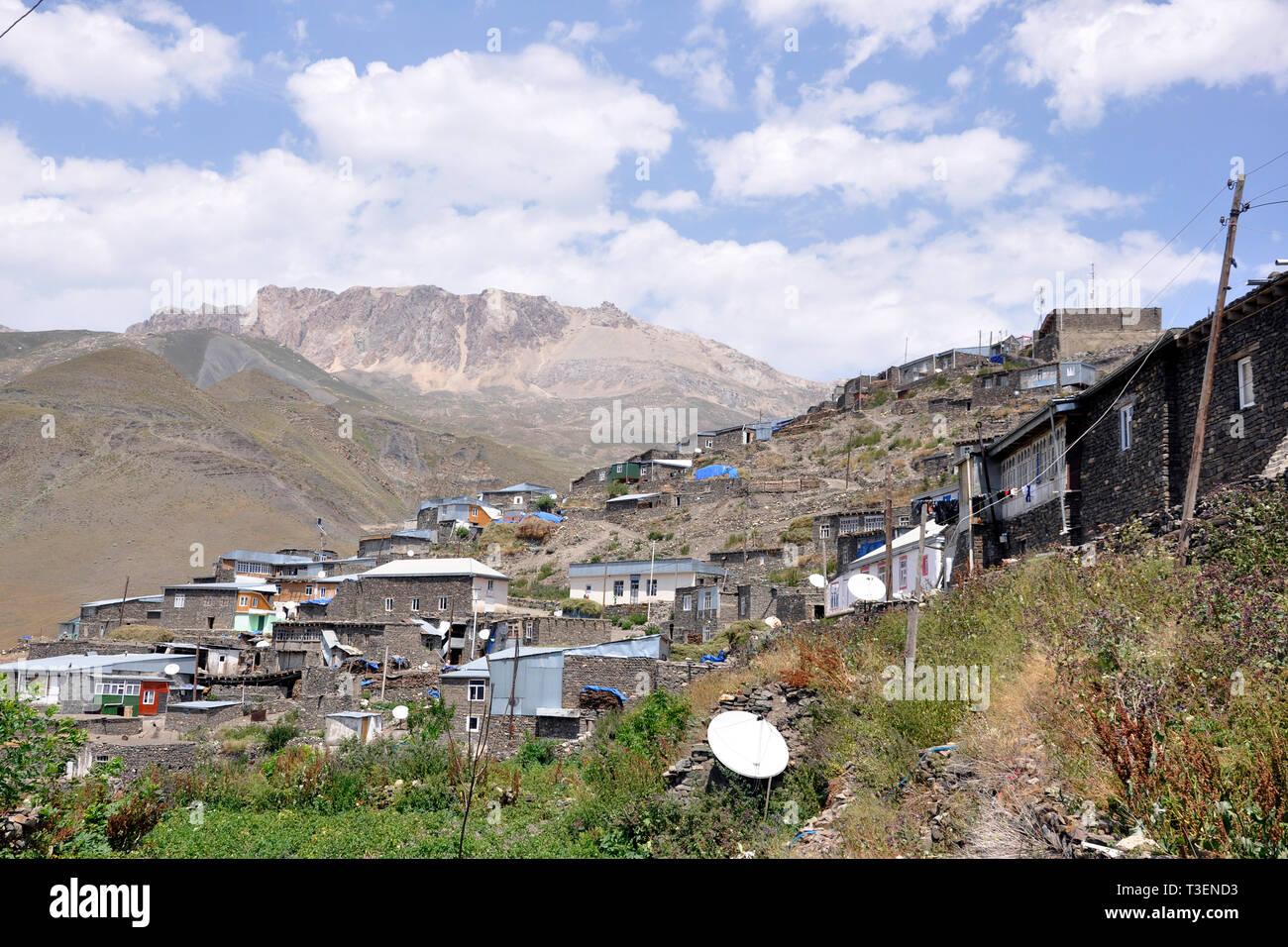Azerbaijan, Khimalig village Stock Photo