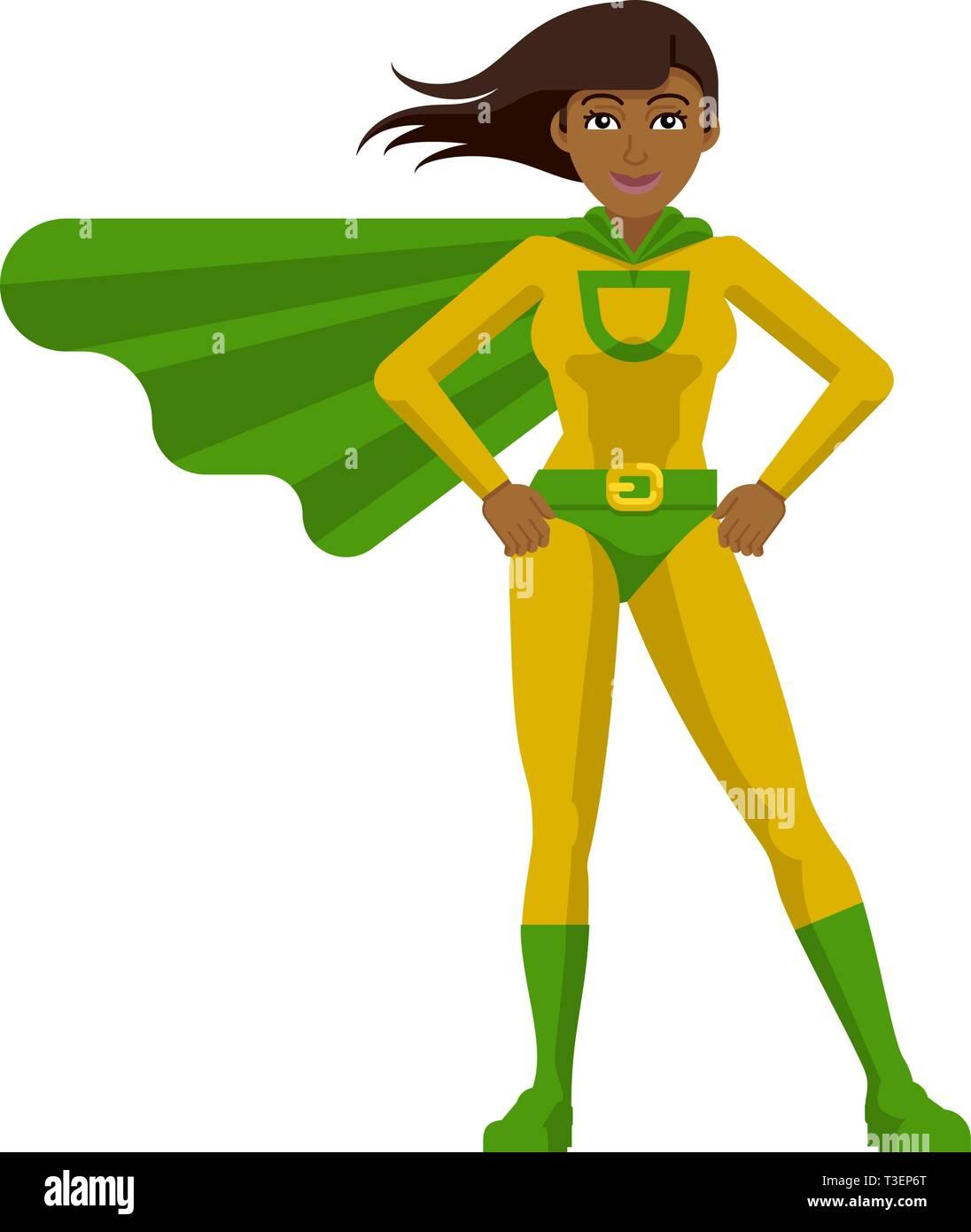 Asian Super Hero Woman Cartoon Stock Vector Image Art Alamy