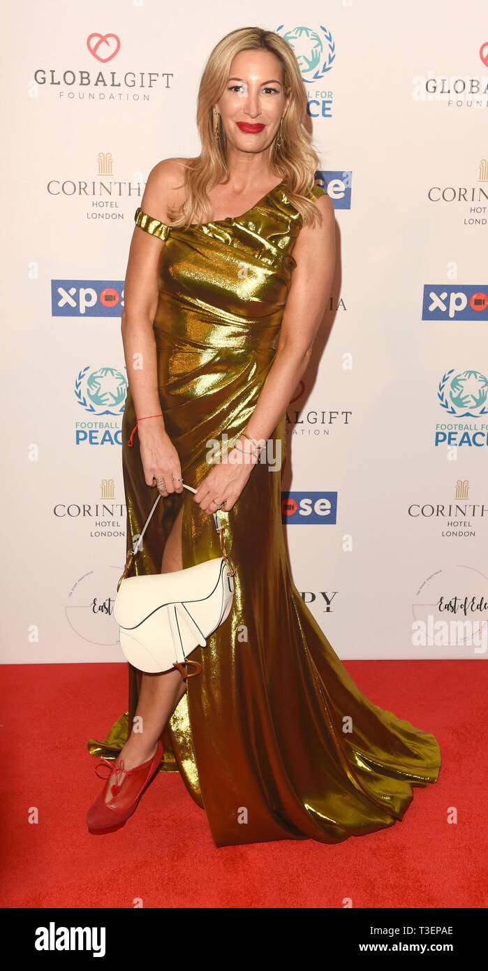 Photo Must Be Credited ©Alpha Press 079965 08/04/2019 Laura Pradelska at the Football for Peace initiative dinner by Global Gift Foundation at The Corinthia Hotel London - Stock Image