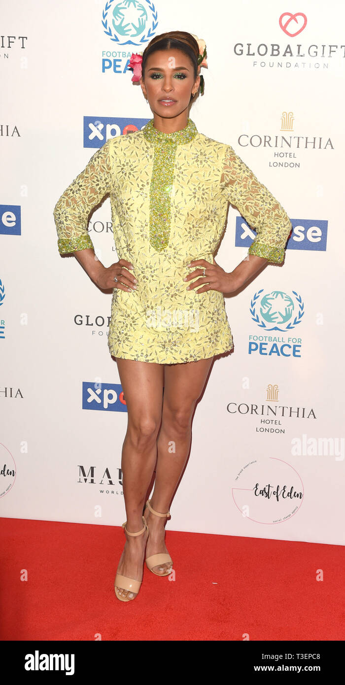 Photo Must Be Credited ©Alpha Press 079965 08/04/2019 Melody Thornton at the Football for Peace initiative dinner by Global Gift Foundation at The Corinthia Hotel London - Stock Image