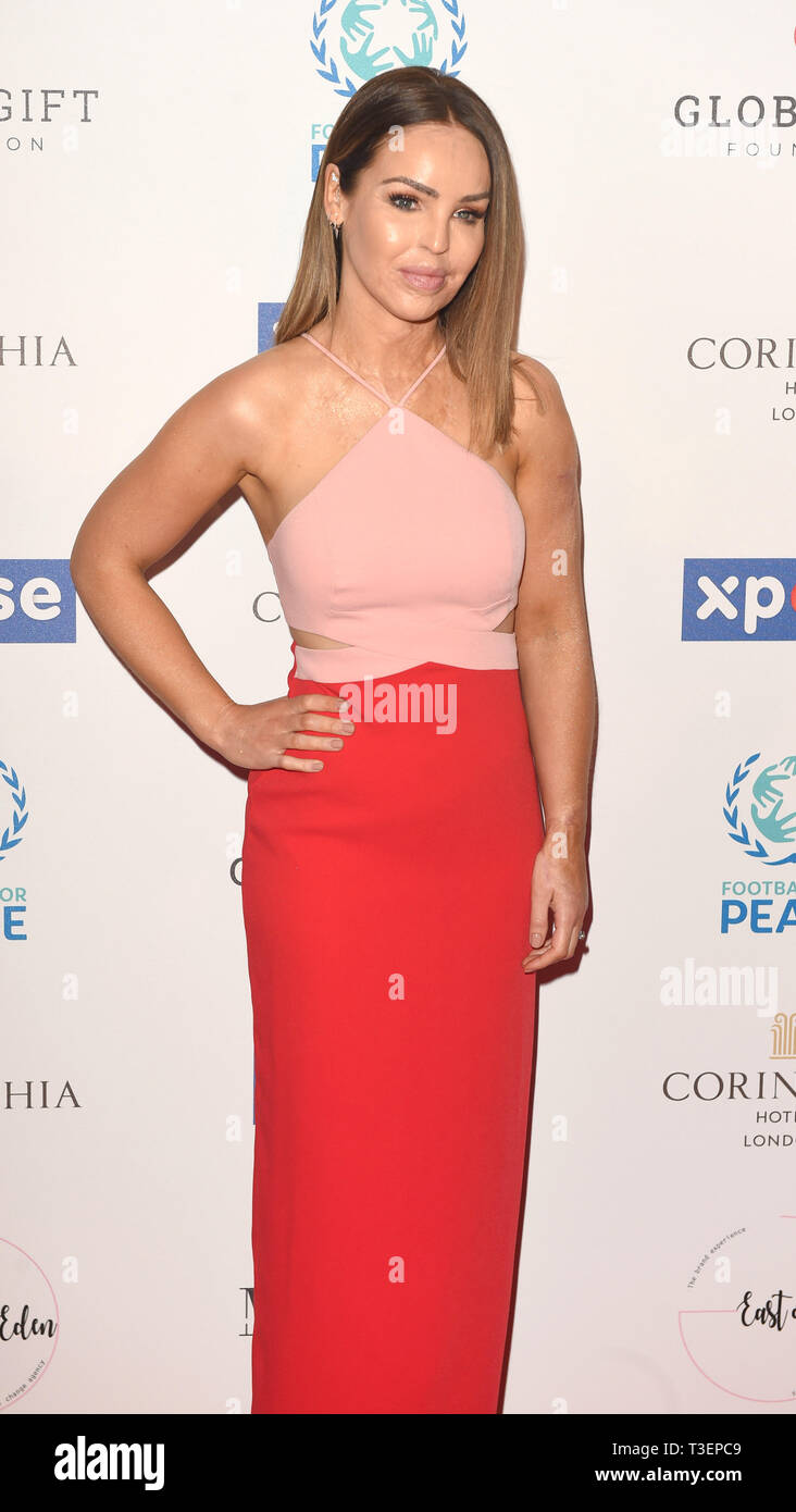 Photo Must Be Credited ©Alpha Press 079965 08/04/2019 Katie Piper at the Football for Peace initiative dinner by Global Gift Foundation at The Corinthia Hotel London - Stock Image