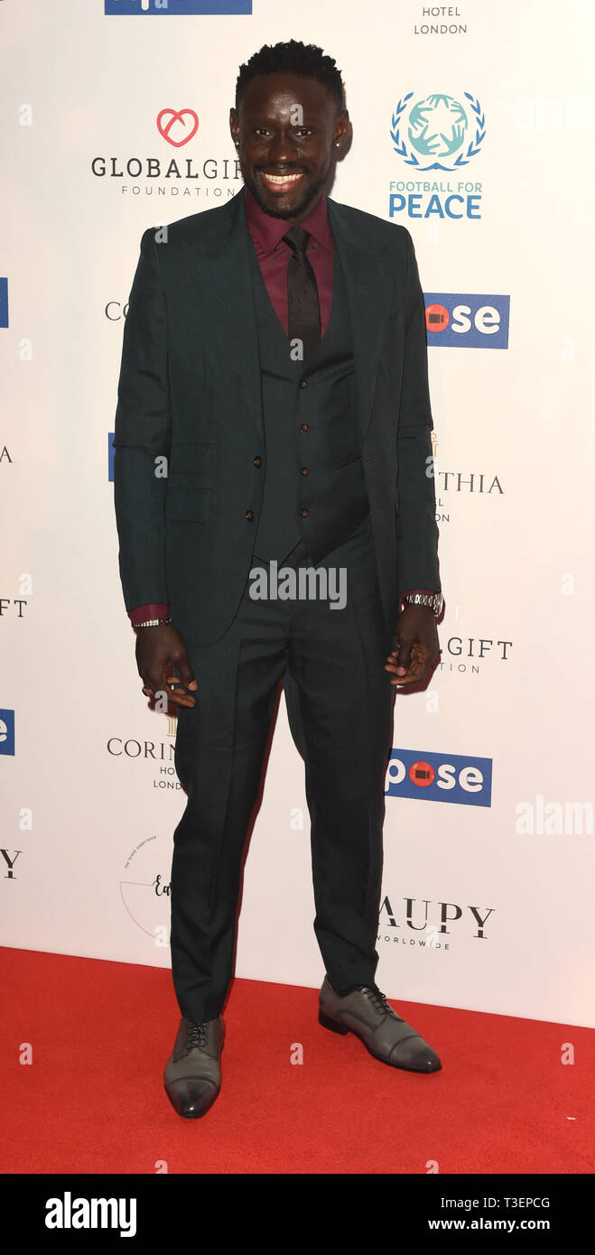Photo Must Be Credited ©Alpha Press 079965 08/04/2019 Oumar Niasse at the Football for Peace initiative dinner by Global Gift Foundation at The Corinthia Hotel London - Stock Image