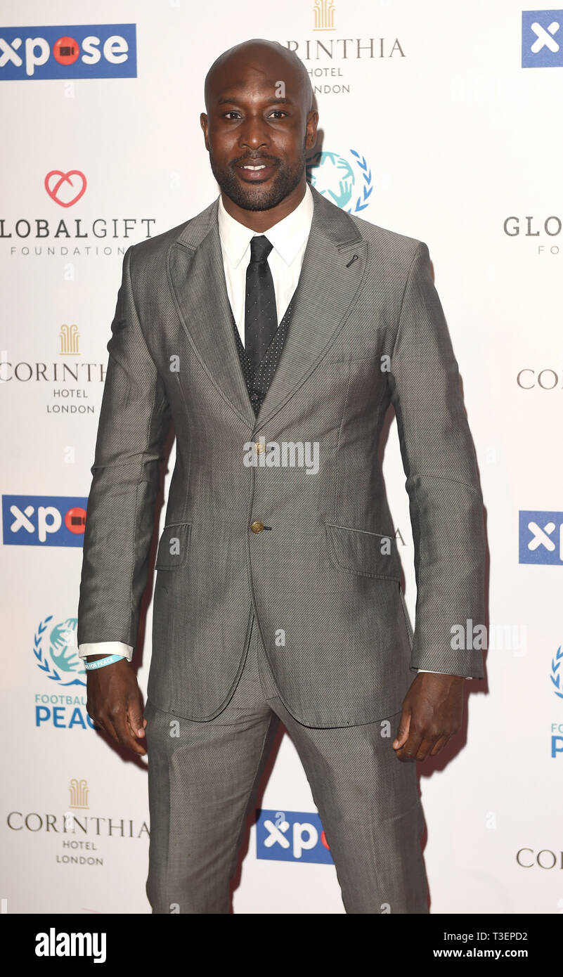 Photo Must Be Credited ©Alpha Press 079965 08/04/2019 Carlton Cole at the Football for Peace initiative dinner by Global Gift Foundation at The Corinthia Hotel London - Stock Image