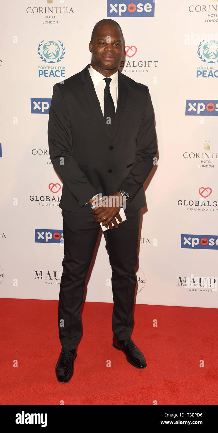 Photo Must Be Credited ©Alpha Press 079965 08/04/2019 Guest at the Football for Peace initiative dinner by Global Gift Foundation at The Corinthia Hotel London - Stock Image