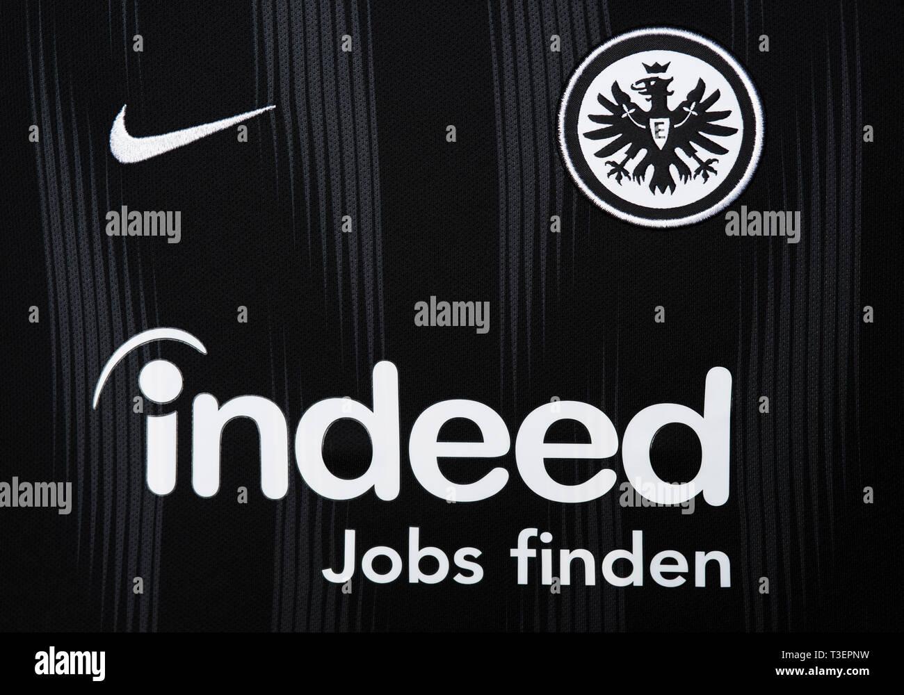 Close up of Eintracht Frankfurt jersey. - Stock Image