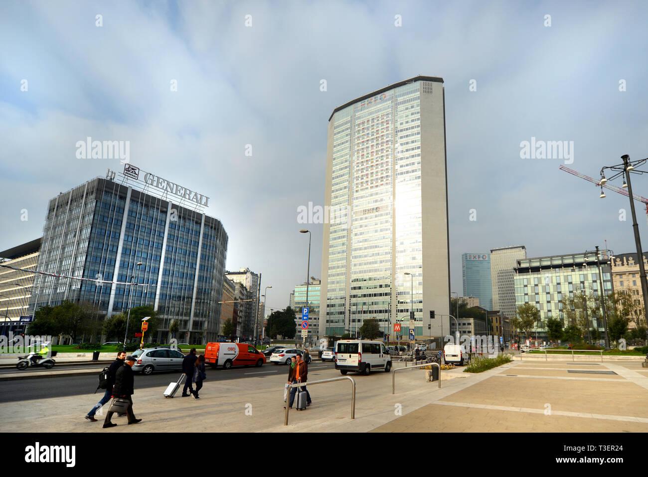 Italia, Lombardia, Milano, Pirelli skyscraper - Stock Image