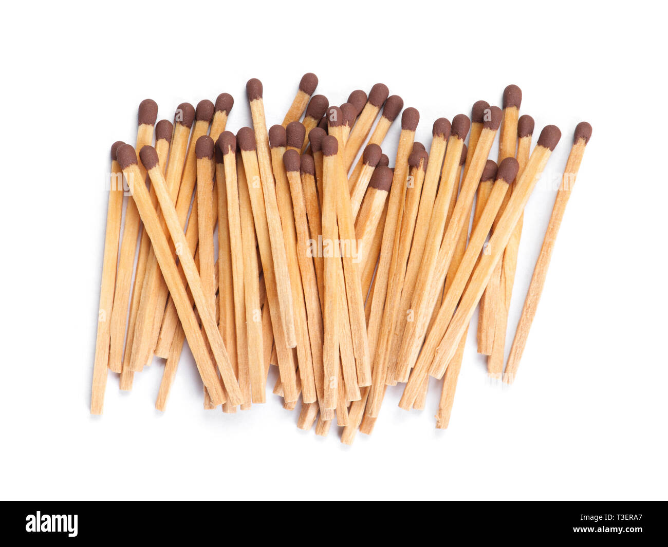Bunch of matches isolated on white background - Stock Image
