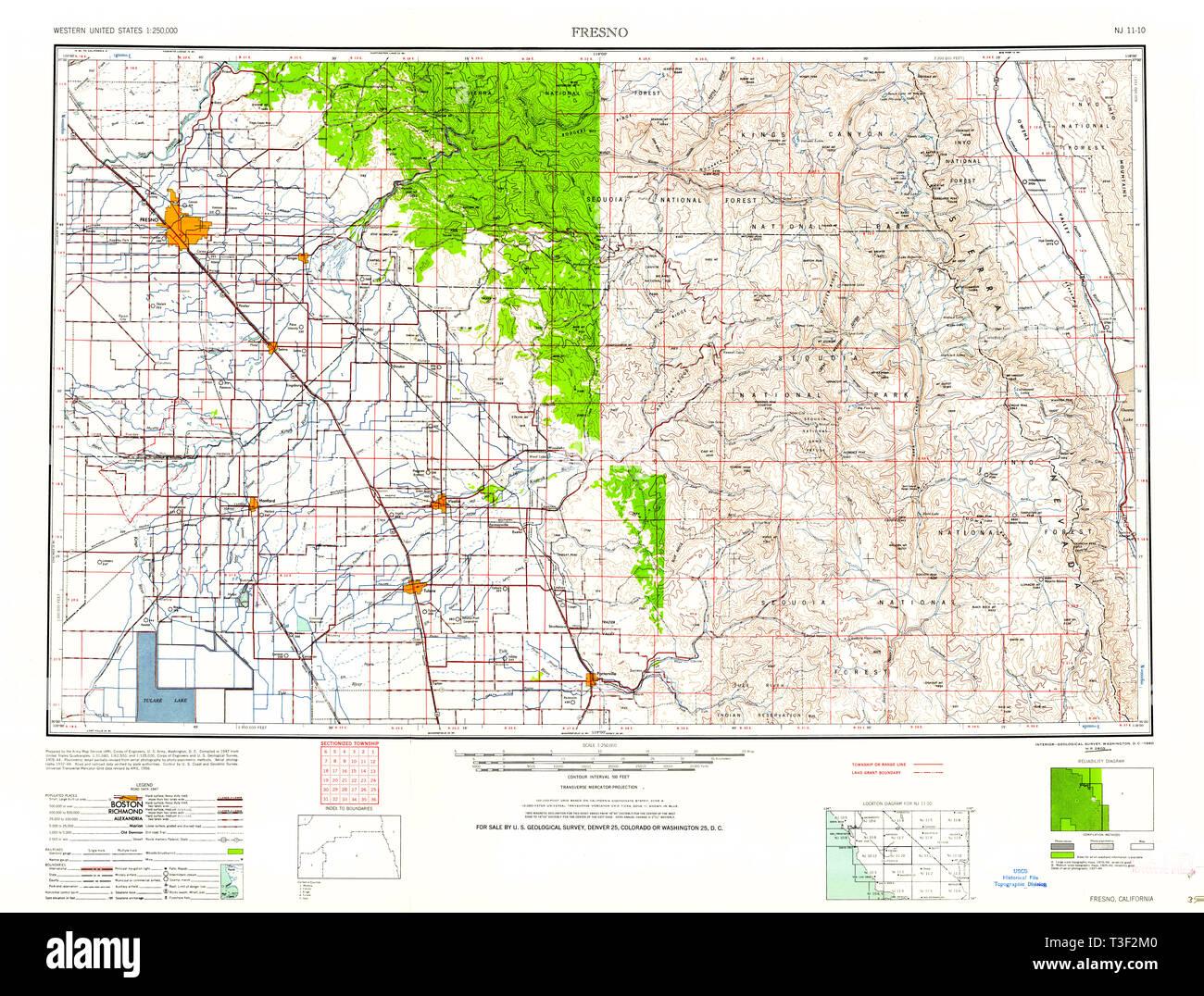 Map Of California Fresno.Map Of Fresno California Stock Photos Map Of Fresno California
