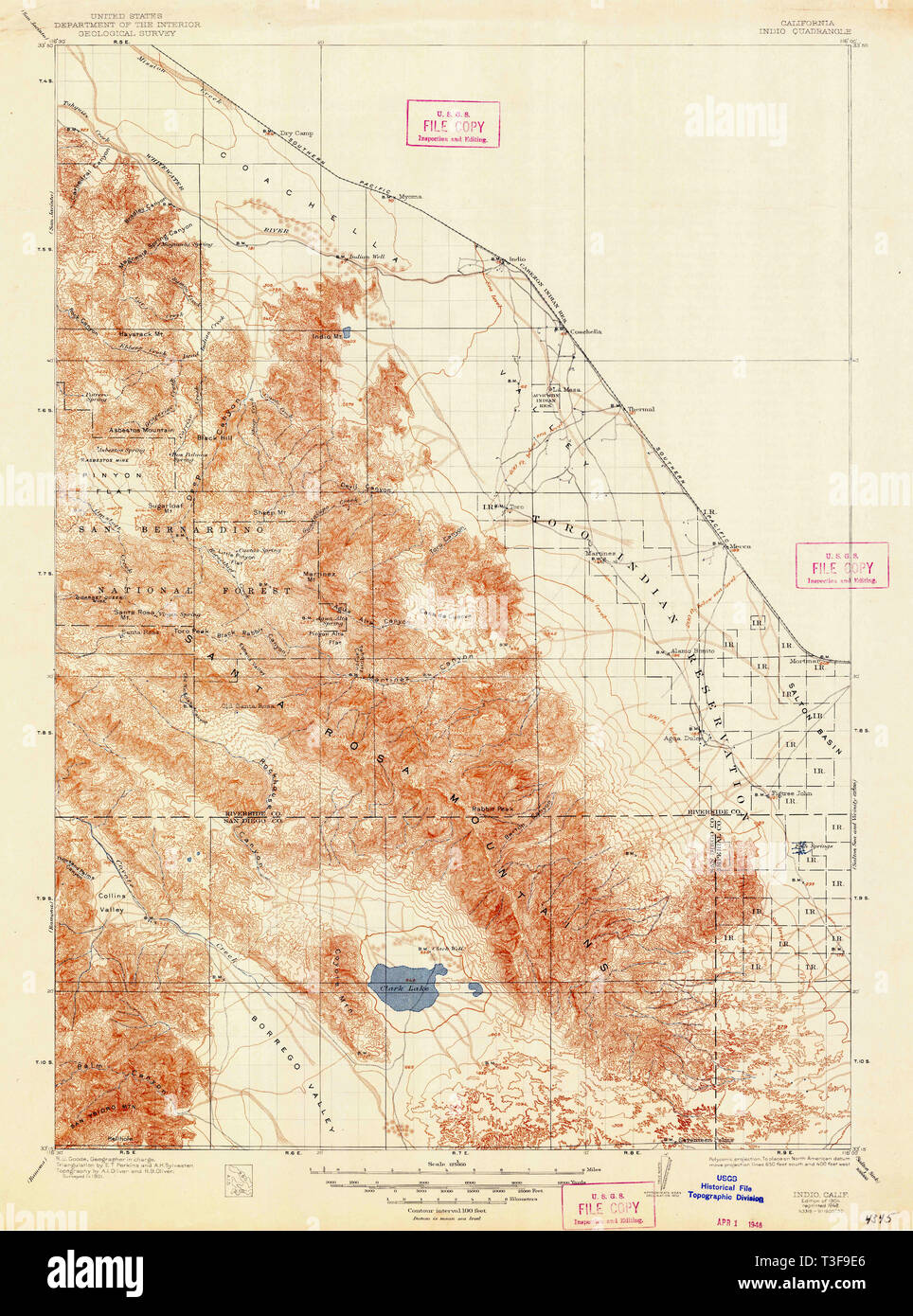 USGS TOPO Map California CA Indio 299375 1904 125000