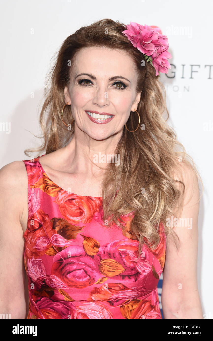 London, UK. 08th Apr, 2019. LONDON, UK. April 08, 2019: Emma Samms arriving for the Football for Peace initiative dinner by Global Gift Foundation at the Corinthia Hotel, London. Picture: Steve Vas/Featureflash Credit: Paul Smith/Alamy Live News Stock Photo