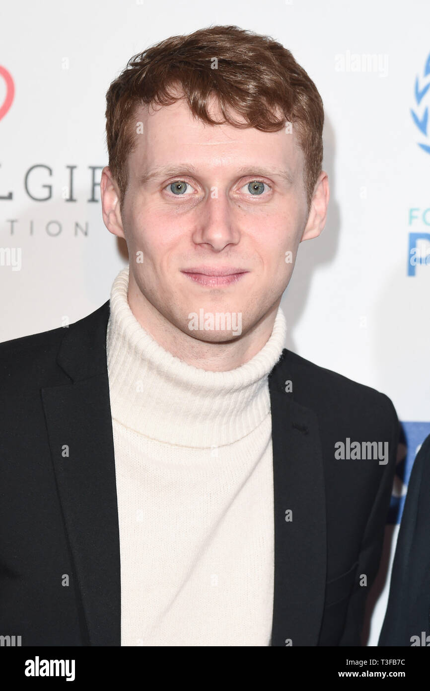 London, UK. 08th Apr, 2019. LONDON, UK. April 08, 2019: Jamie Borthwick arriving for the Football for Peace initiative dinner by Global Gift Foundation at the Corinthia Hotel, London. Picture: Steve Vas/Featureflash Credit: Paul Smith/Alamy Live News - Stock Image