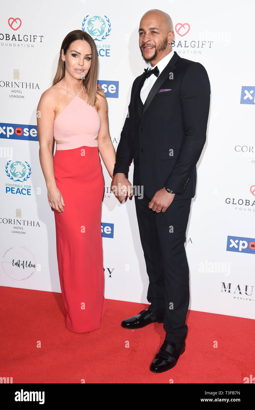 London, UK. 08th Apr, 2019. LONDON, UK. April 08, 2019: Katie Piper arriving for the Football for Peace initiative dinner by Global Gift Foundation at the Corinthia Hotel, London. Picture: Steve Vas/Featureflash Credit: Paul Smith/Alamy Live News Stock Photo