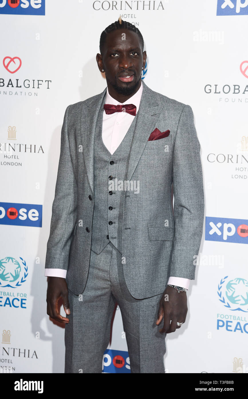 London, UK. 08th Apr, 2019. LONDON, UK. April 08, 2019: Mamadou Sakho arriving for the Football for Peace initiative dinner by Global Gift Foundation at the Corinthia Hotel, London. Picture: Steve Vas/Featureflash Credit: Paul Smith/Alamy Live News Stock Photo