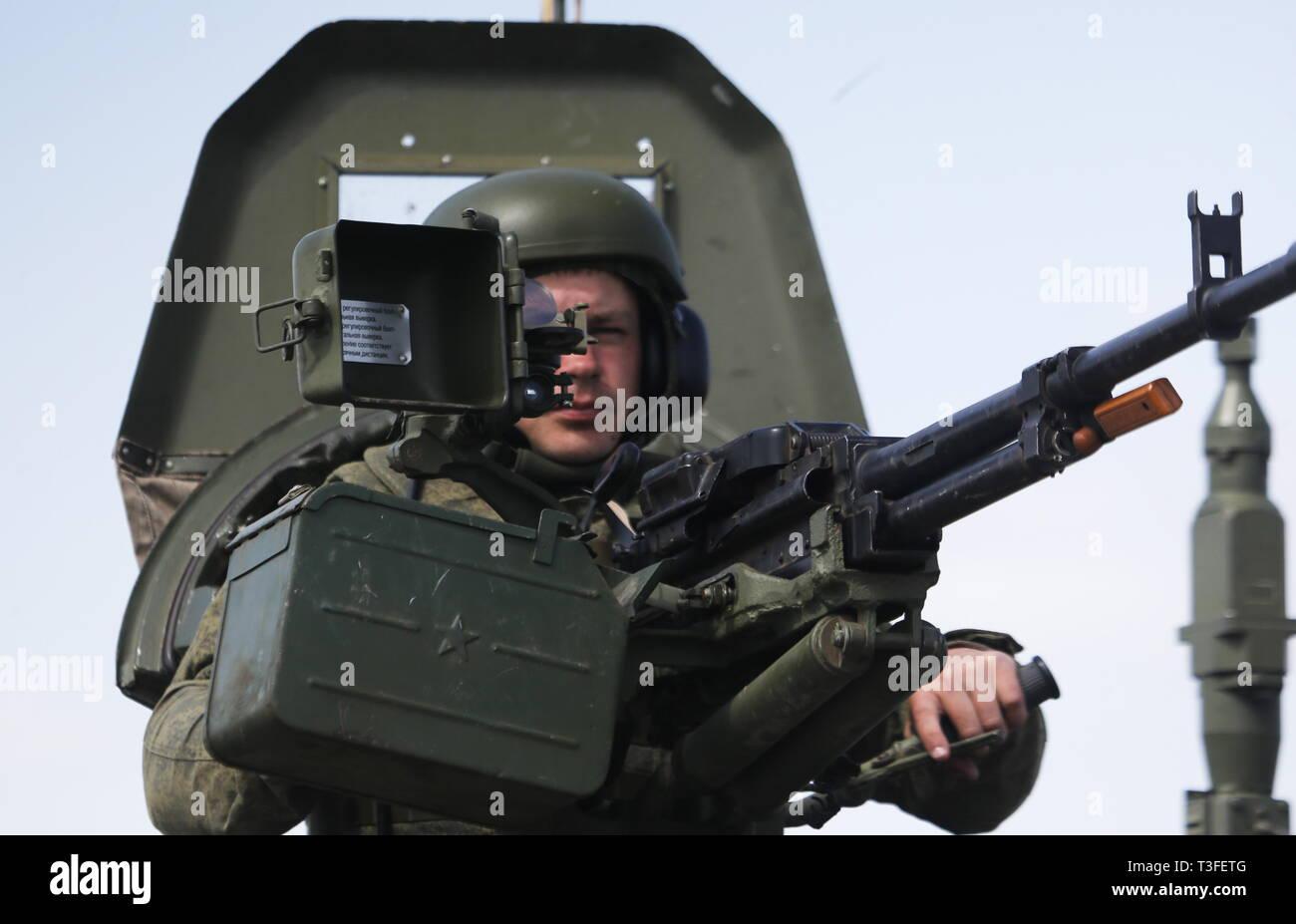 Rostov, Russia  09th April, 2019  A serviceman involved in