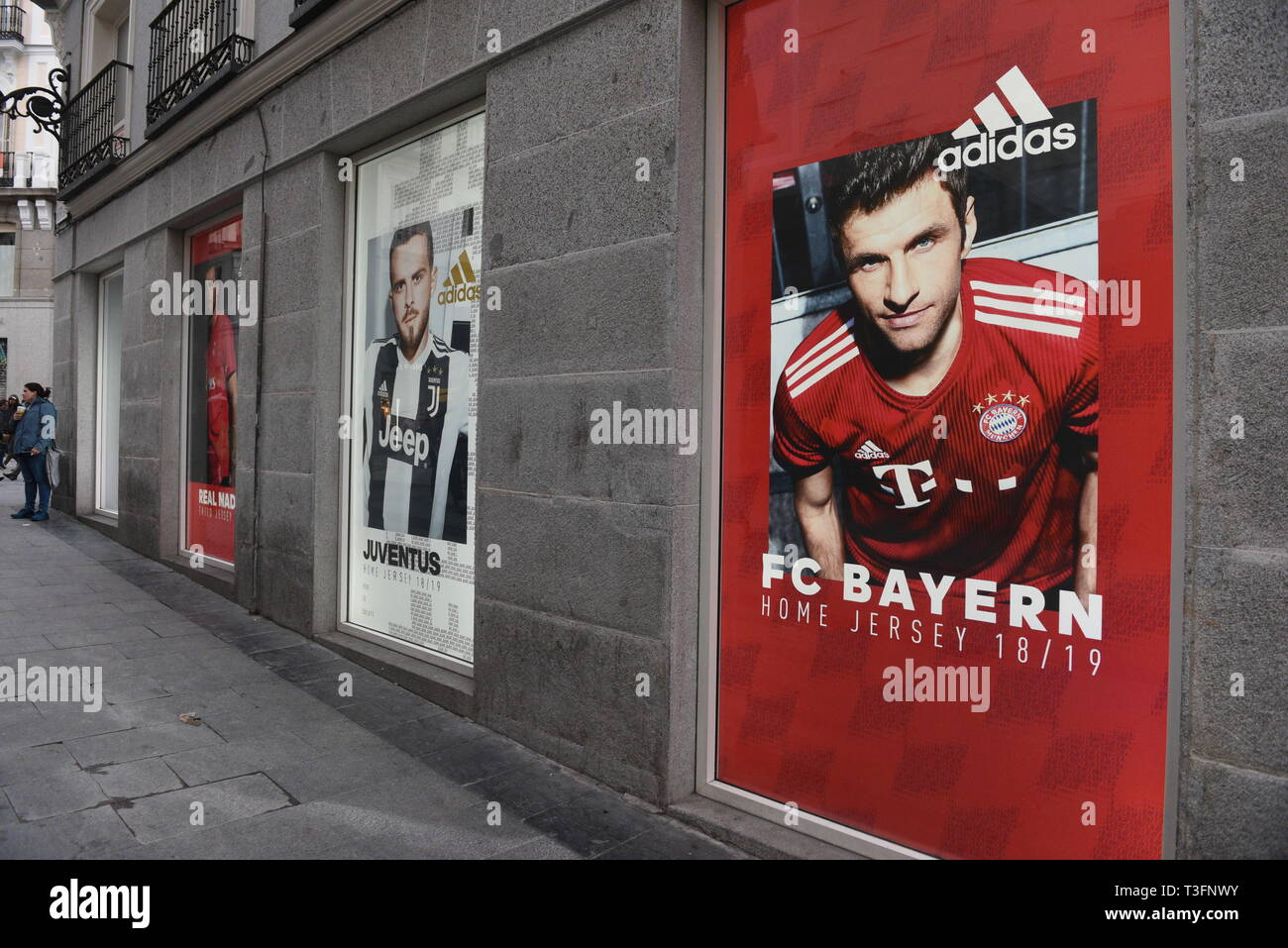 Madrid Madrid Spain 9th Apr 2019 An Adidas Advertisement Seen On A Adidas Store In Madrid Credit John Milner Sopa Images Zuma Wire Alamy Live News Stock Photo Alamy
