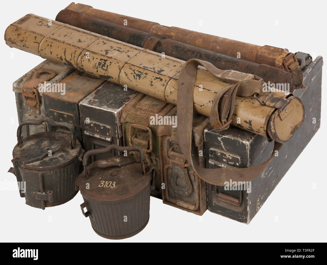 A group of Wehrmacht equipment , Three empty MG 34/42 steel