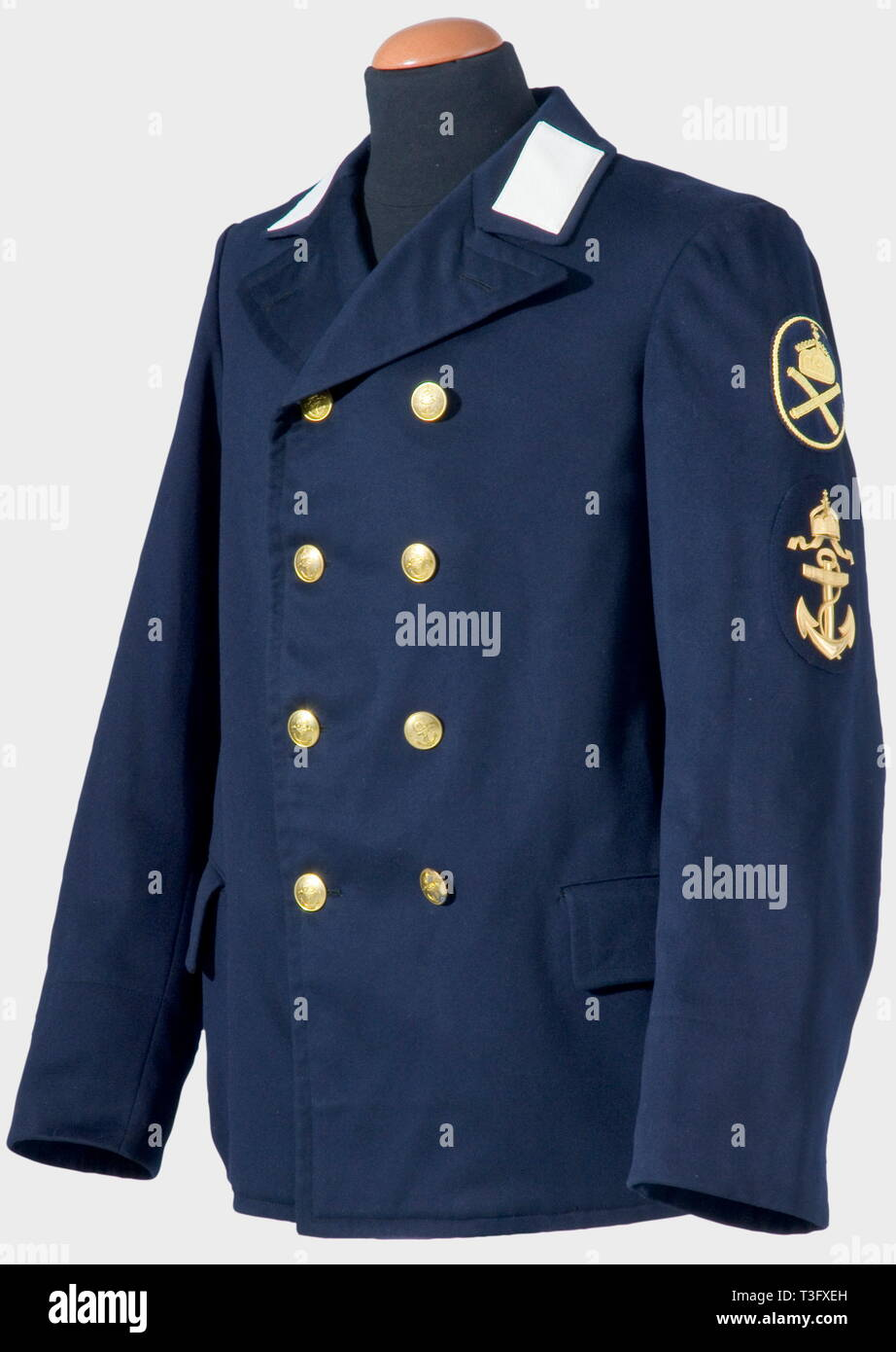 A uniform jacket for a chief boatswains mate, on the Imperial yacht