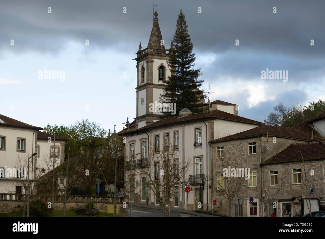 São João Baptista church in Ponte da Barca, Minho, Portugal, Europe - Stock Image