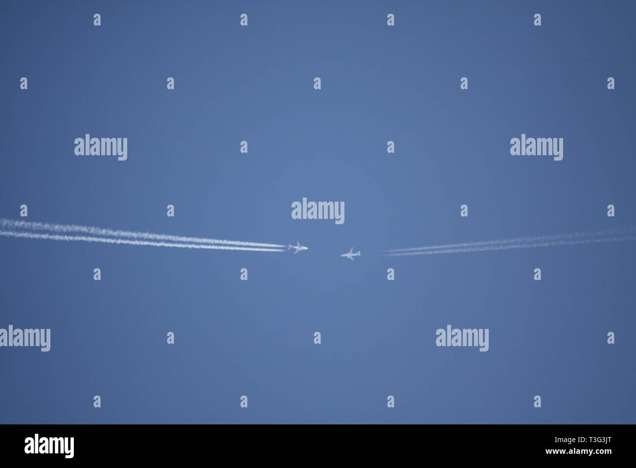 Aircraft Near Miss - Stock Image