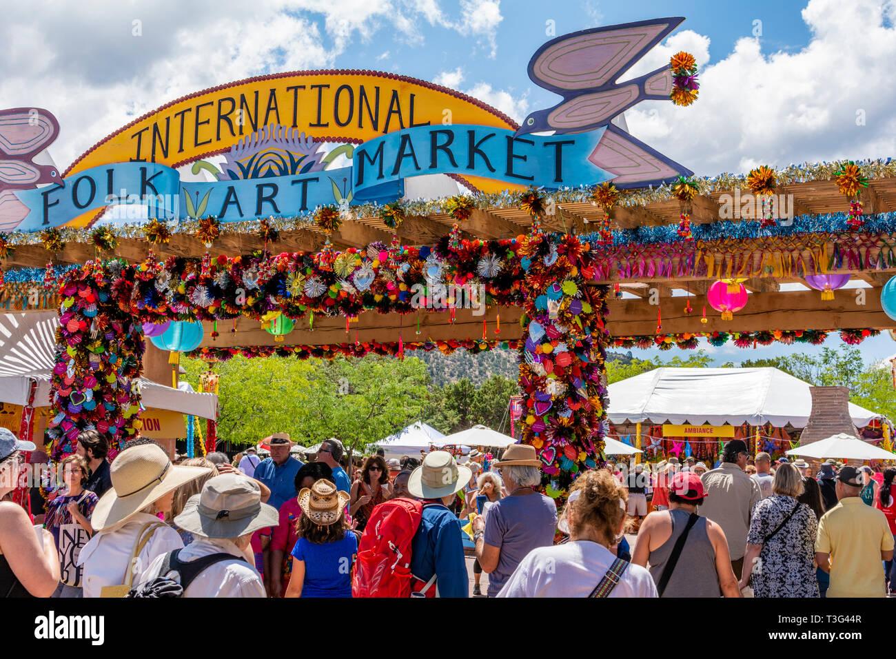 International Folk Art Market 2019 Santa Fe, New Mexico, USA Stock