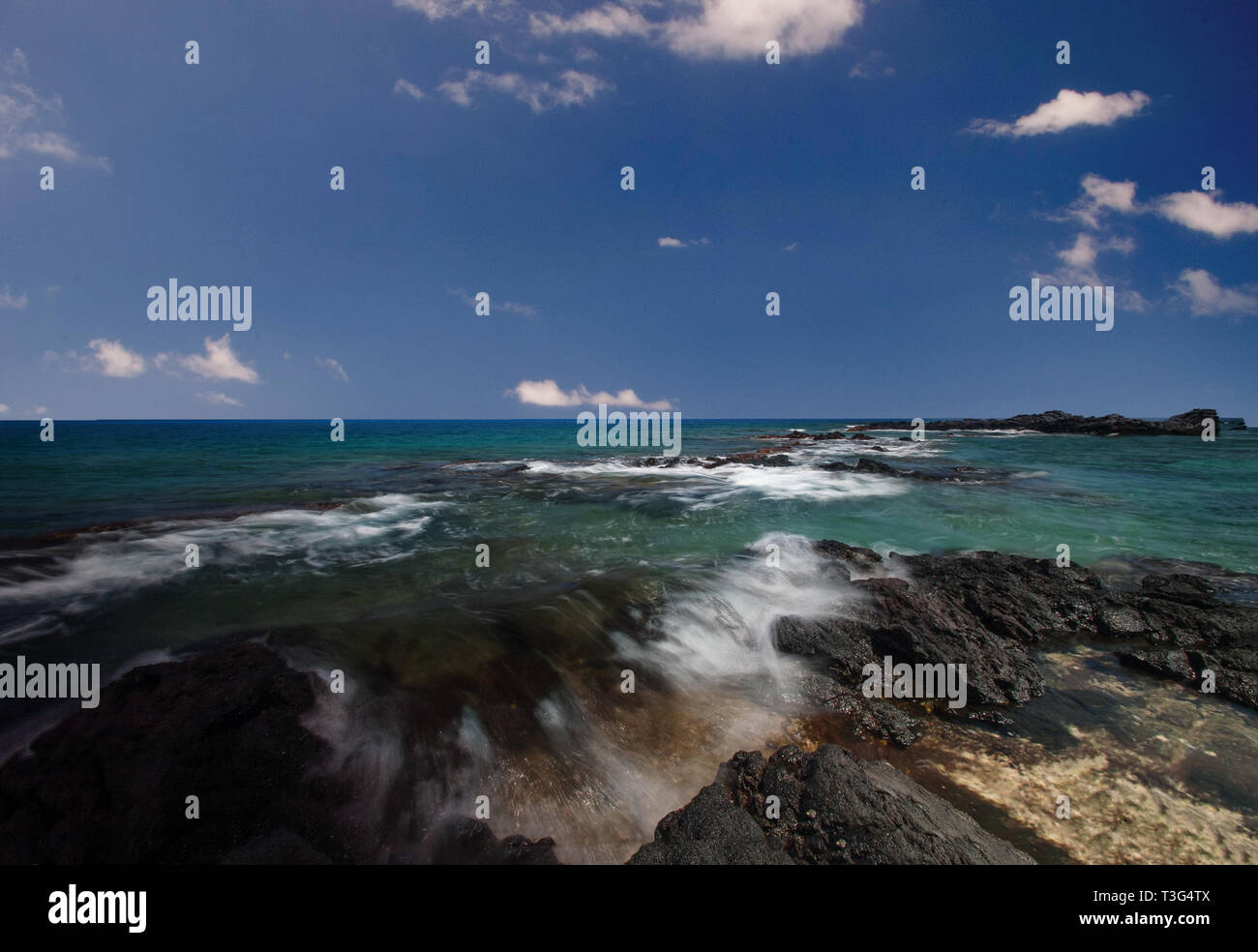 Rocky Kona Shoreline - Stock Image