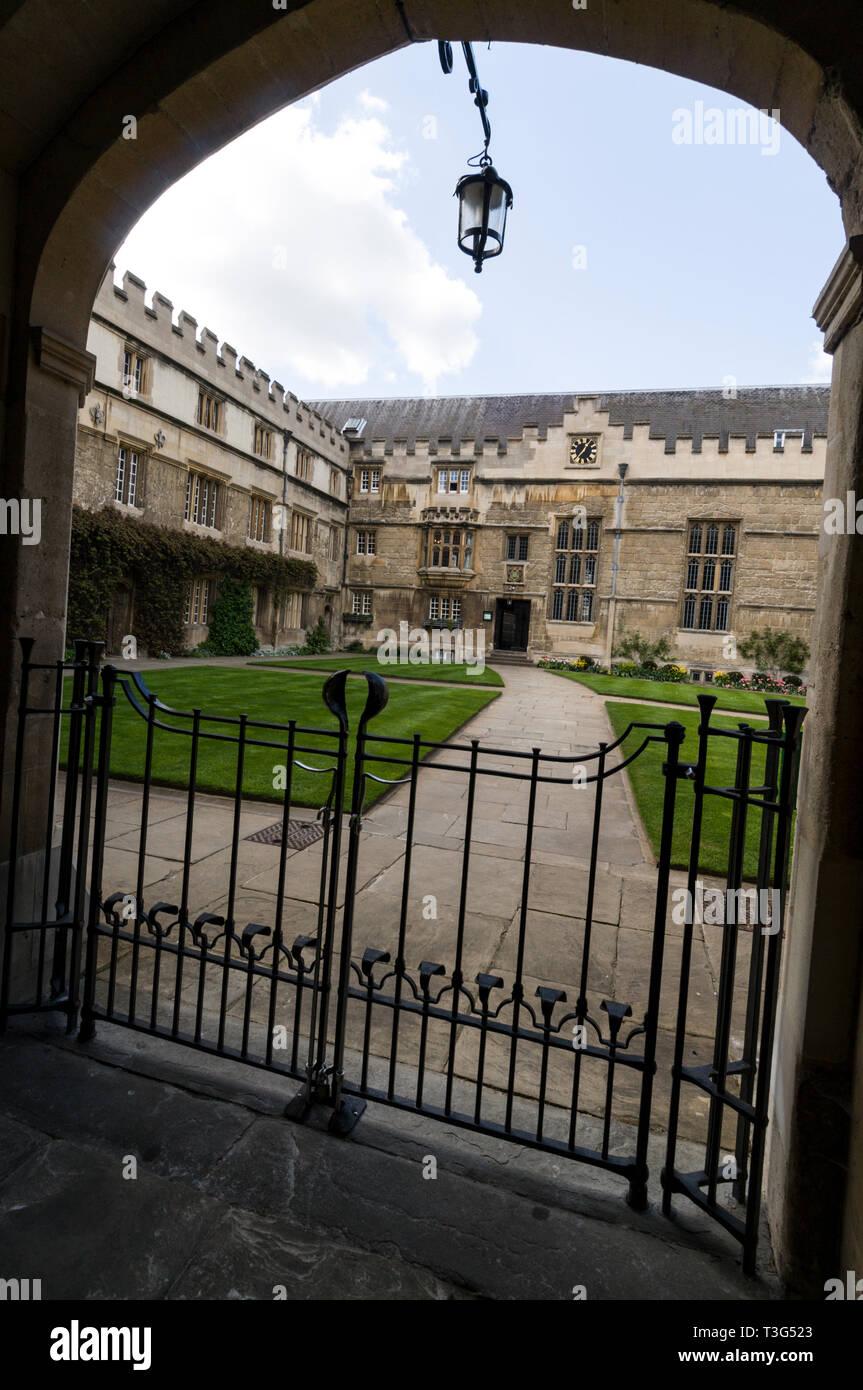 Jesus College in Turf Street, Oxford, Britain. - Stock Image
