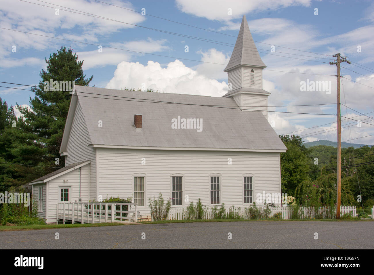 The Webster Methodist Church has been added to the National Register of Historic Places. It sits on Main Street, next to Old Rock School, in Webster. Stock Photo