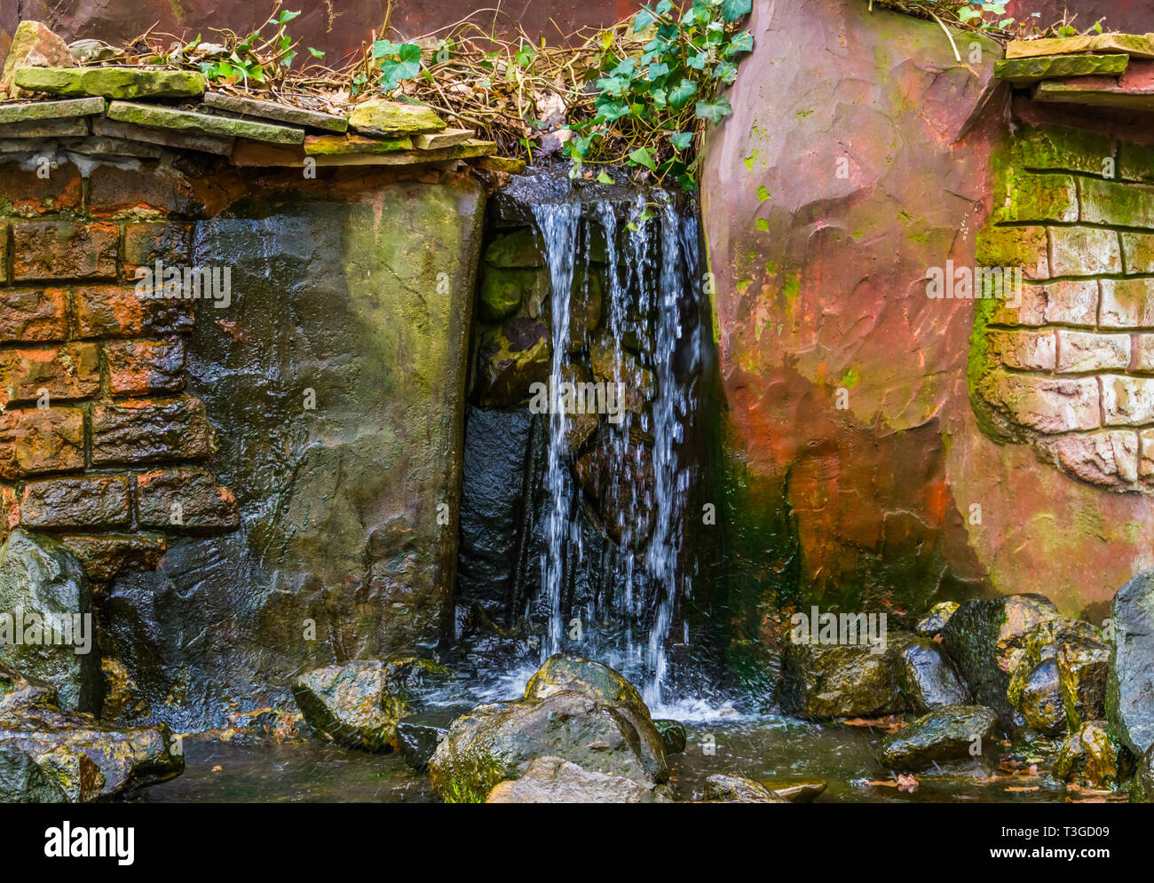 Waterfall With Brook In A Garden Backyard Decorations Streaming