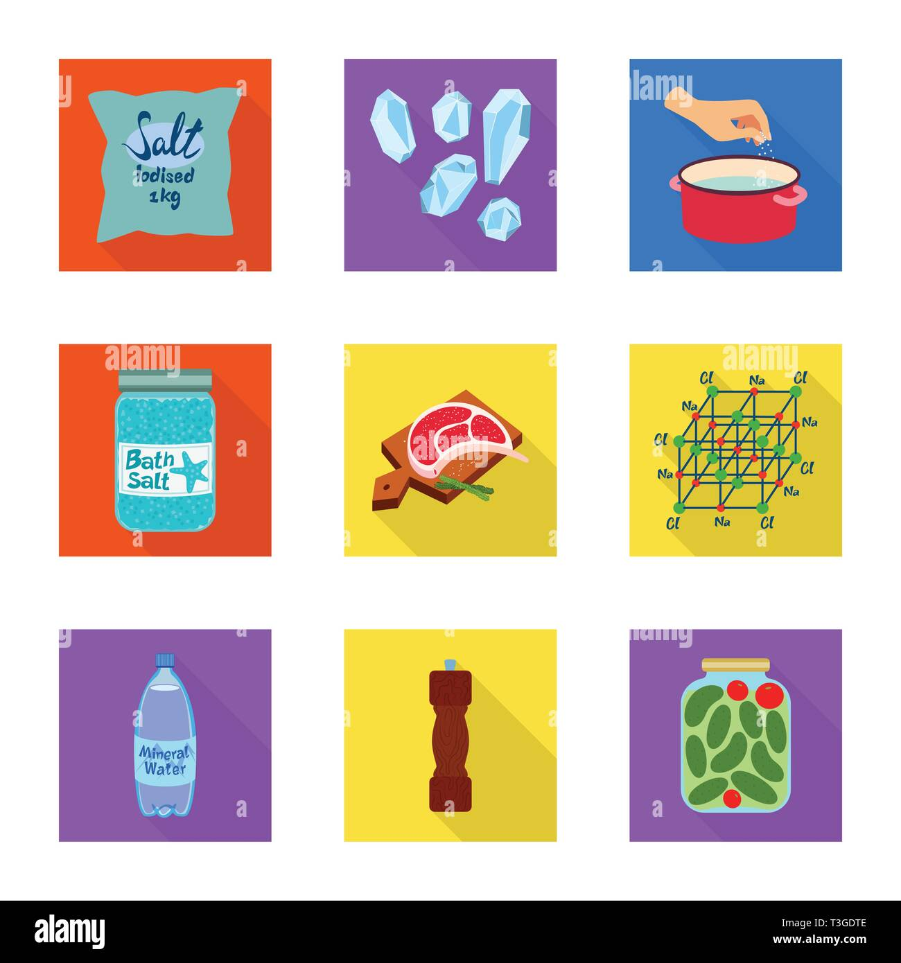 Vector Design Of Raw And Kitchen Icon Collection Of Raw And
