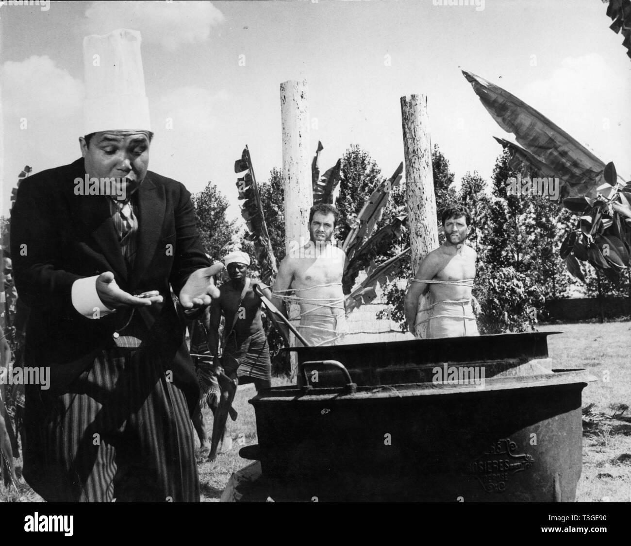 Candide ou l'optimisme au XXe siecle  Year: 1961 - France Jean-Pierre Cassel, Jacques Balutin  Director: Norbert Carbonnaux - Stock Image