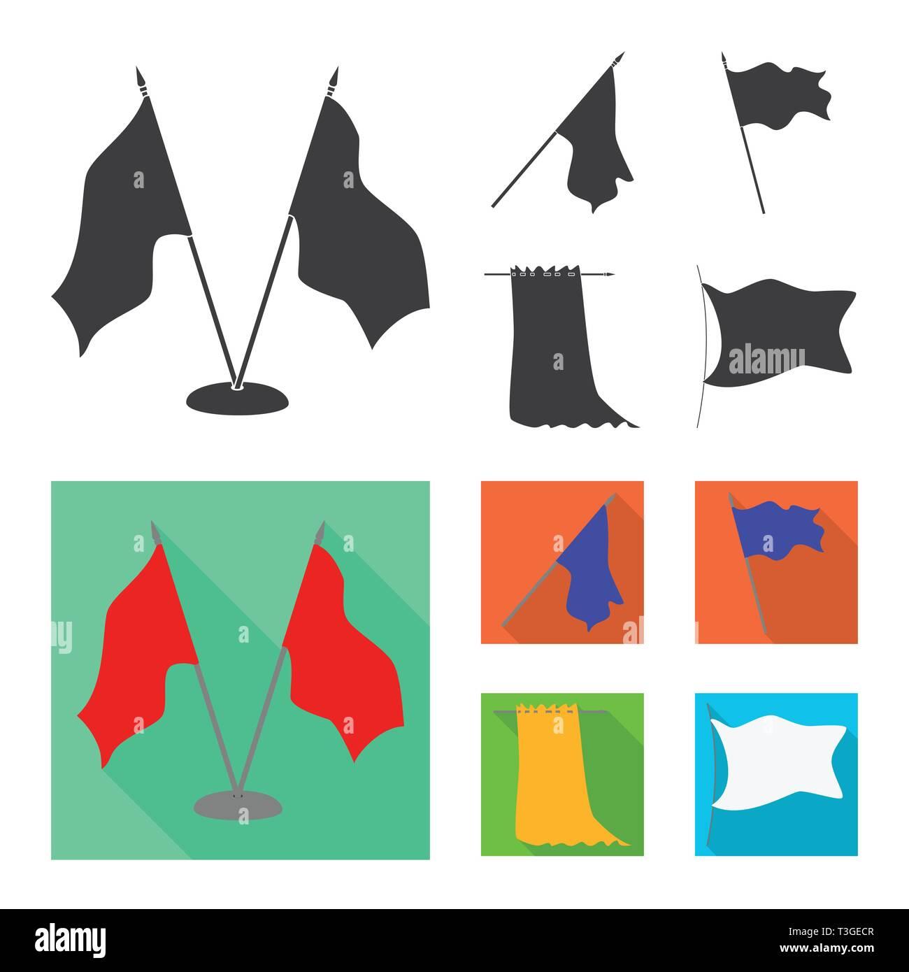 Vector design of texture and presentation logo. Collection of texture and media  vector icon for stock. - Stock Vector