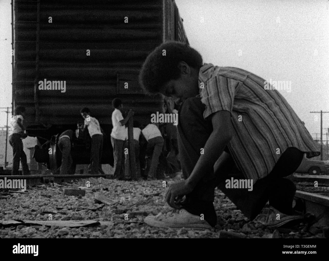 Killer of Sheep  Year  1978 - USA Director : Charles Burnett - Stock Image