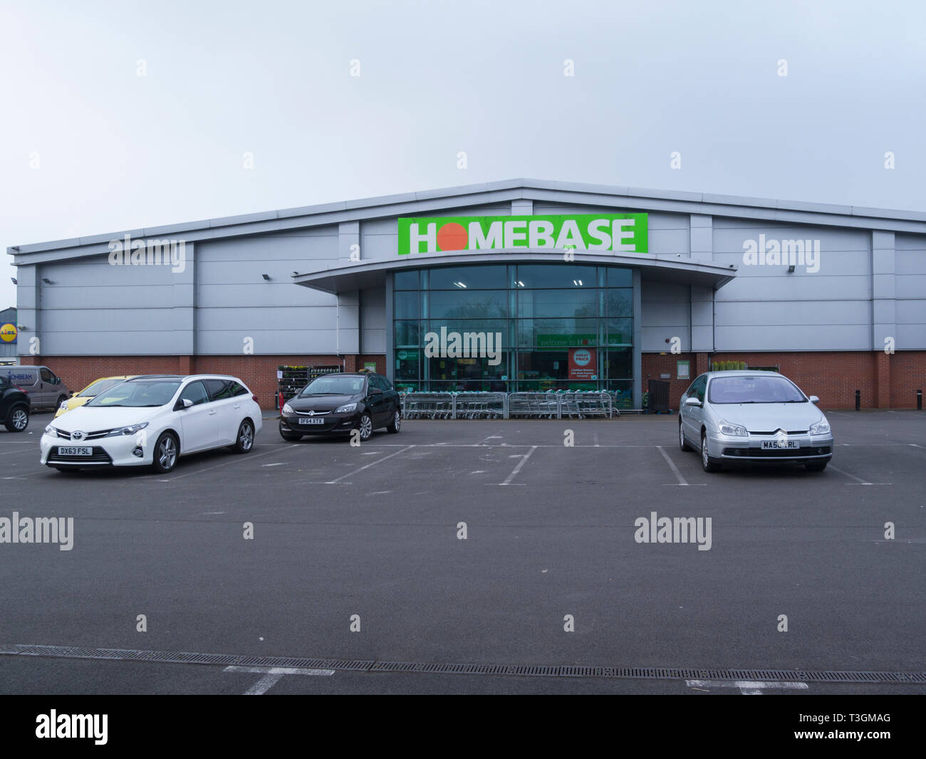 Homebase DIY store in Market Drayton Shropshire earmarked for closure later this year making staff redundant Stock Photo