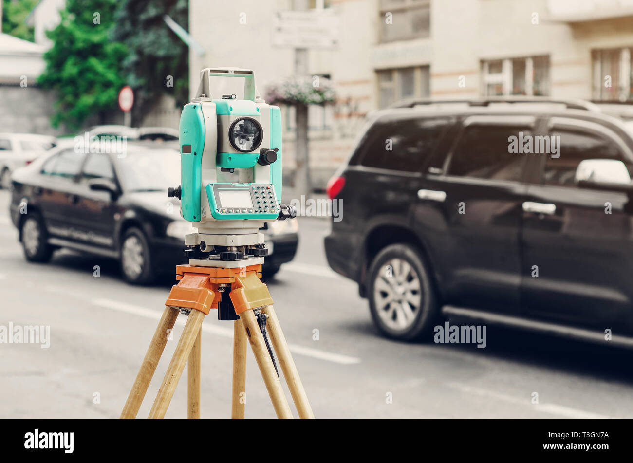 Total Station Stock Photos & Total Station Stock Images - Alamy