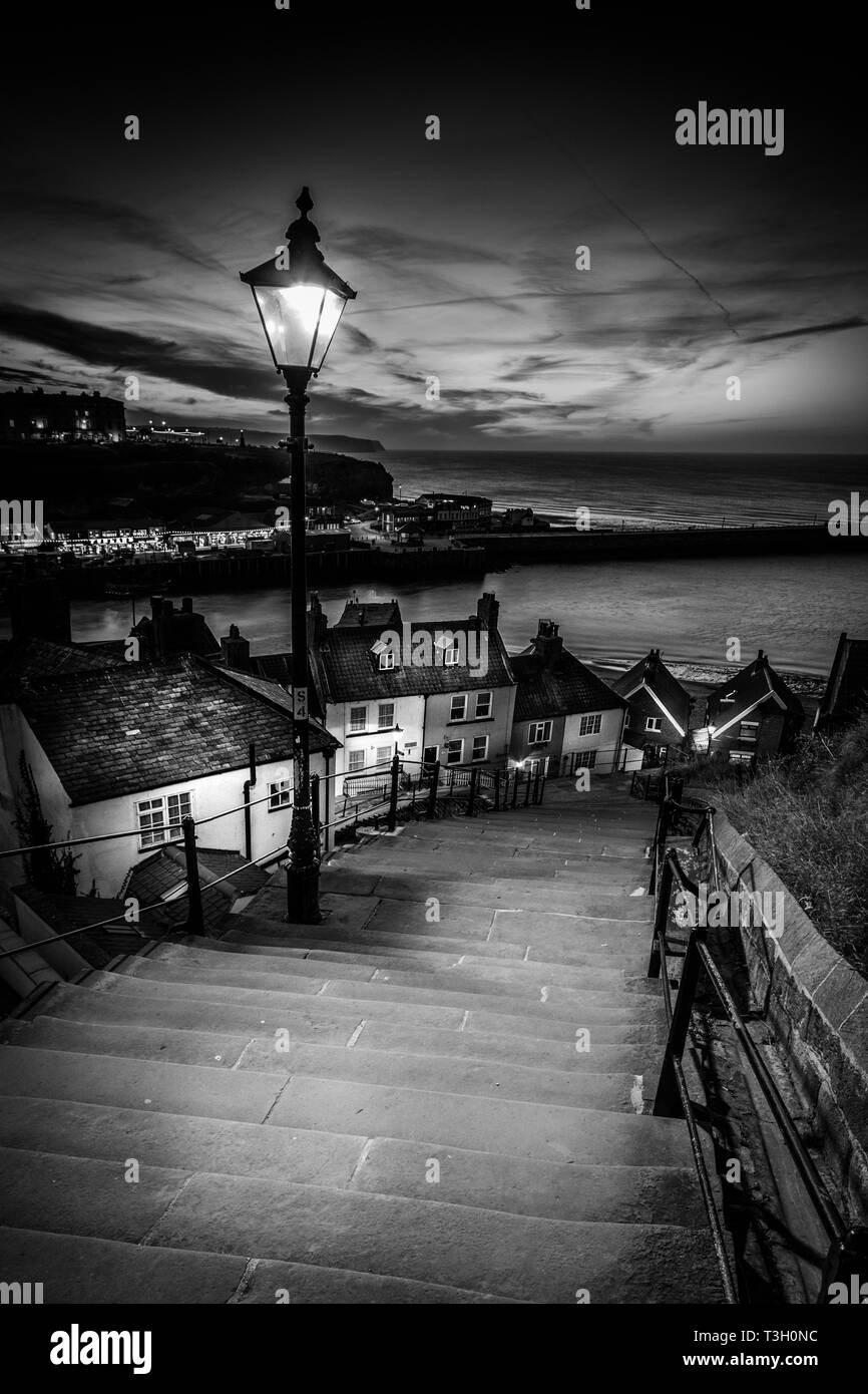 A view from the 199 steps whitby, North Yorkshire, UK - Stock Image
