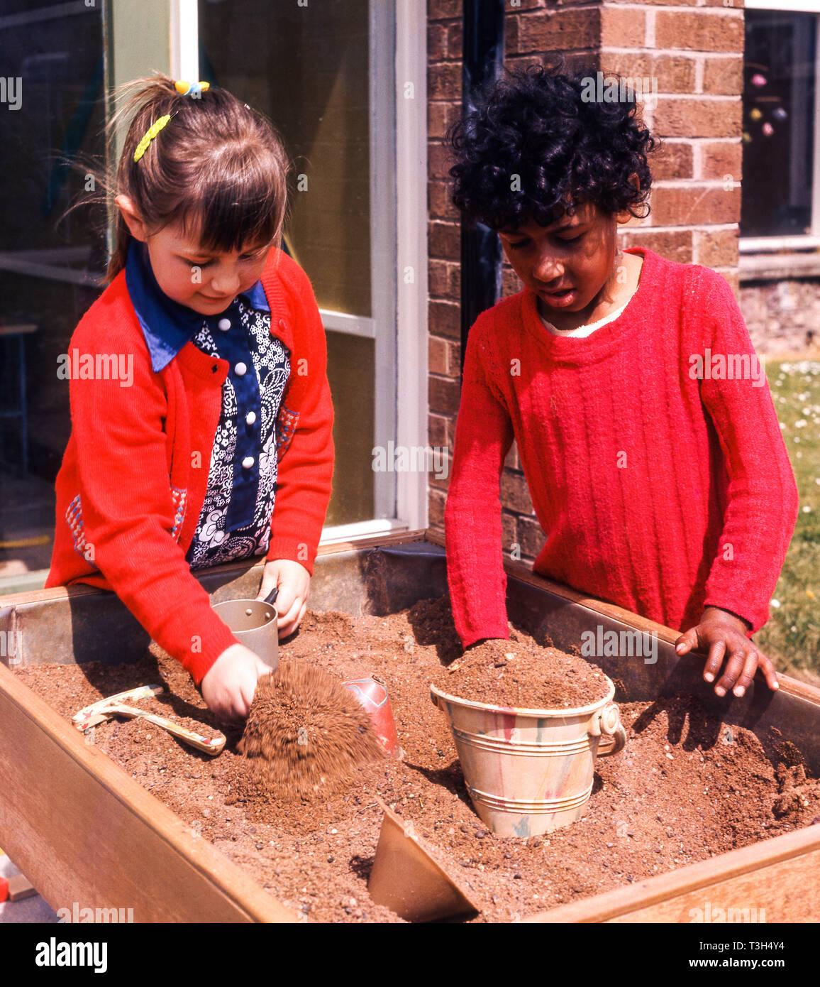Young Schoolchildren on outdoor activities - Stock Image