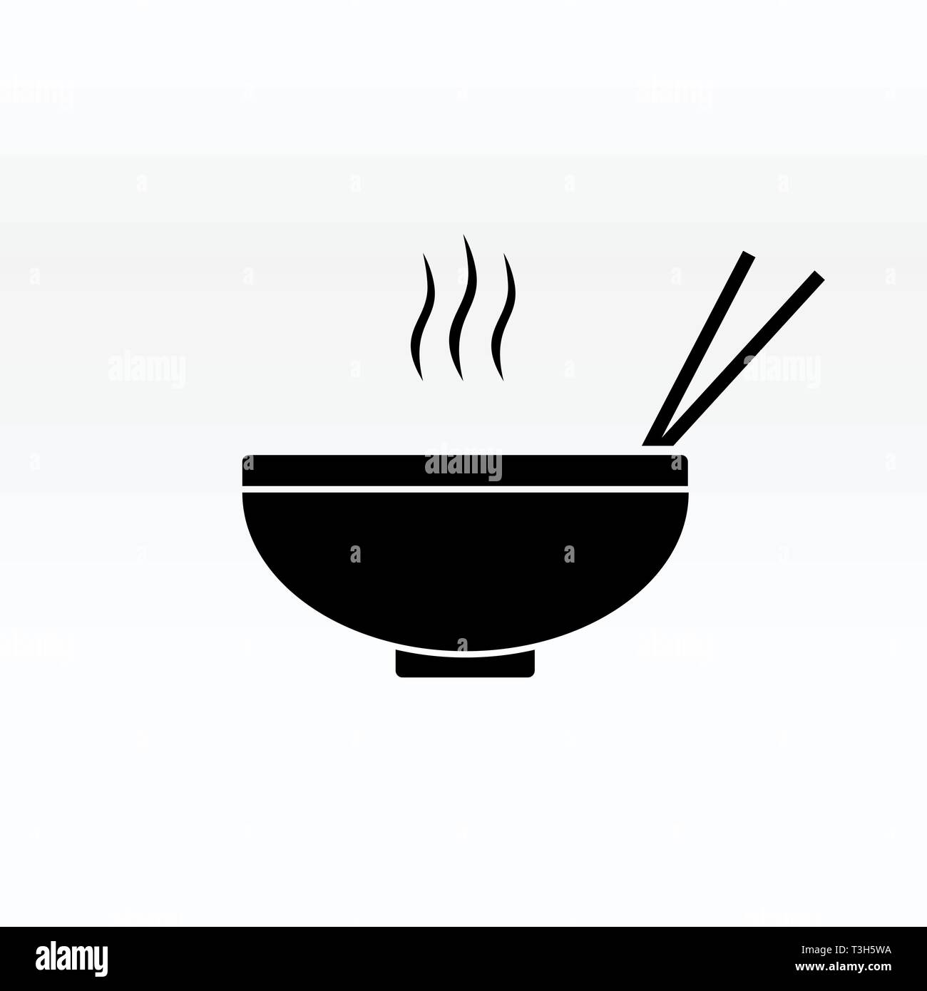 Noodles In The Bowl Vector Sign Illustration Icon Symbol Simple Soup Image Stock Vector Image Art Alamy