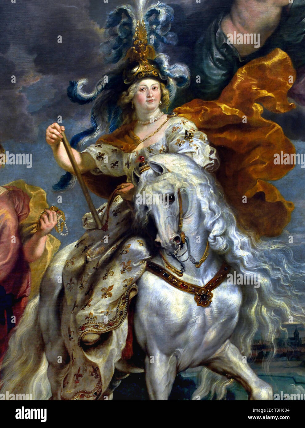 The Regent Militant: The Victory at Jülich  - The Marie de' Medici Cycle 1622-1624  by Peter Paul Rubens commissioned by Queen Marie de' Medici, widow of King Henry IV of France, for the Luxembourg Palace in Paris, - Stock Image