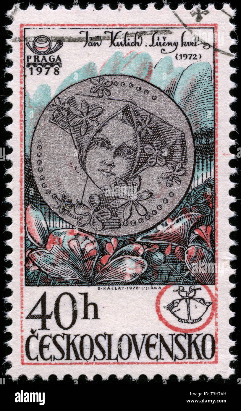 Postage stamp from the former state Czechoslovakia in the