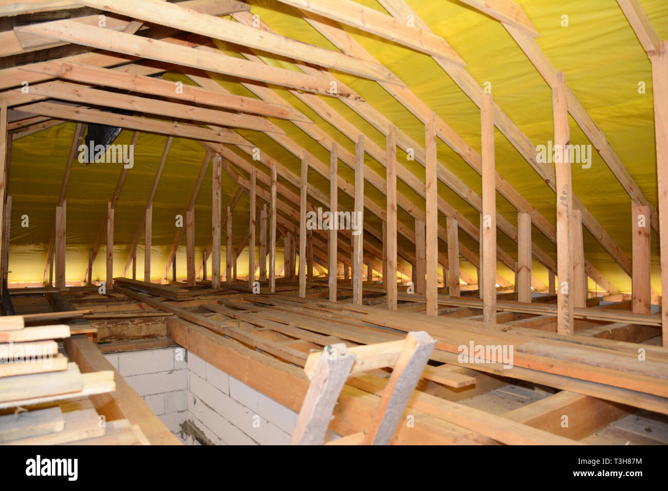 Roofing Construction Interior Wooden Roof Beams Wooden Frame