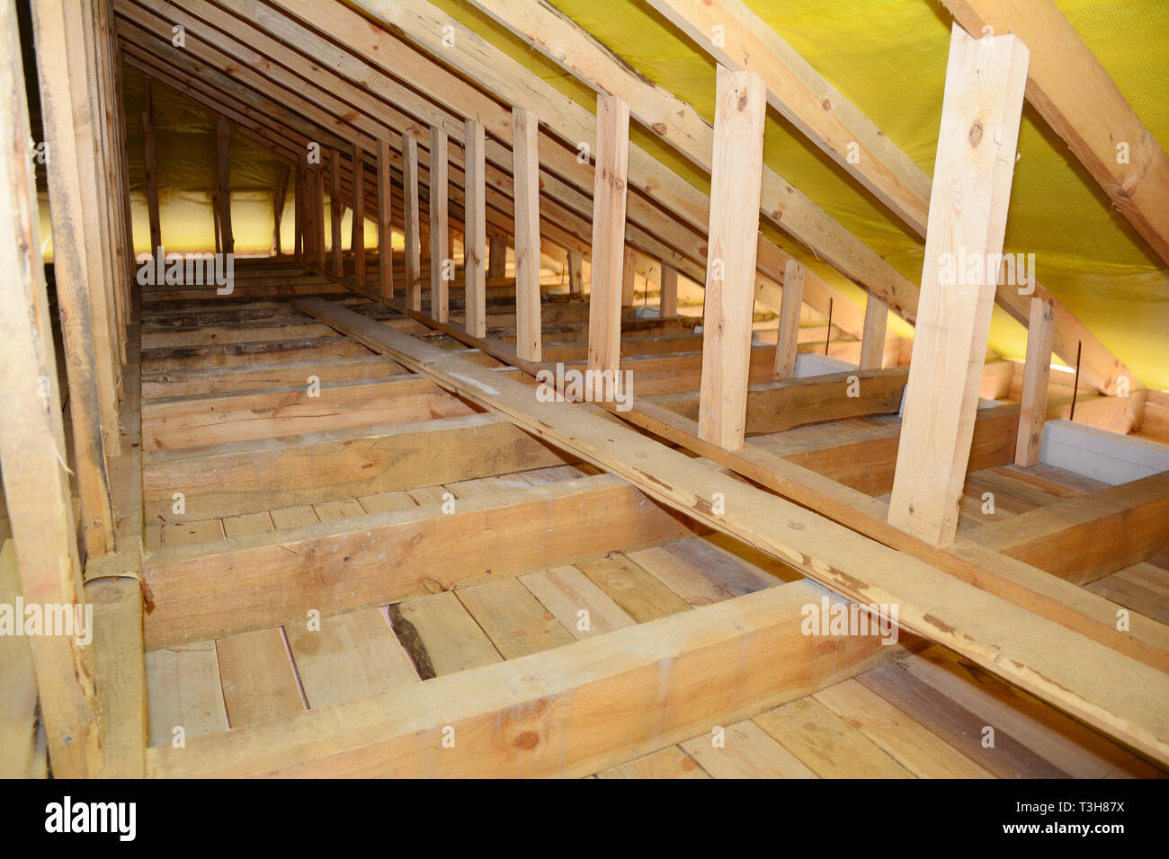 Roofing Construction Interior Wooden Roof Beams Frame House
