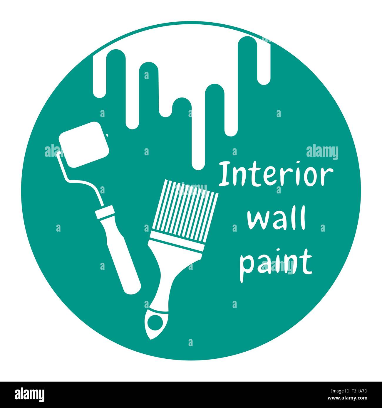 Vector illustration with tools for painting works. Building, construction and home repair tools. Painting and repair of premises. - Stock Vector