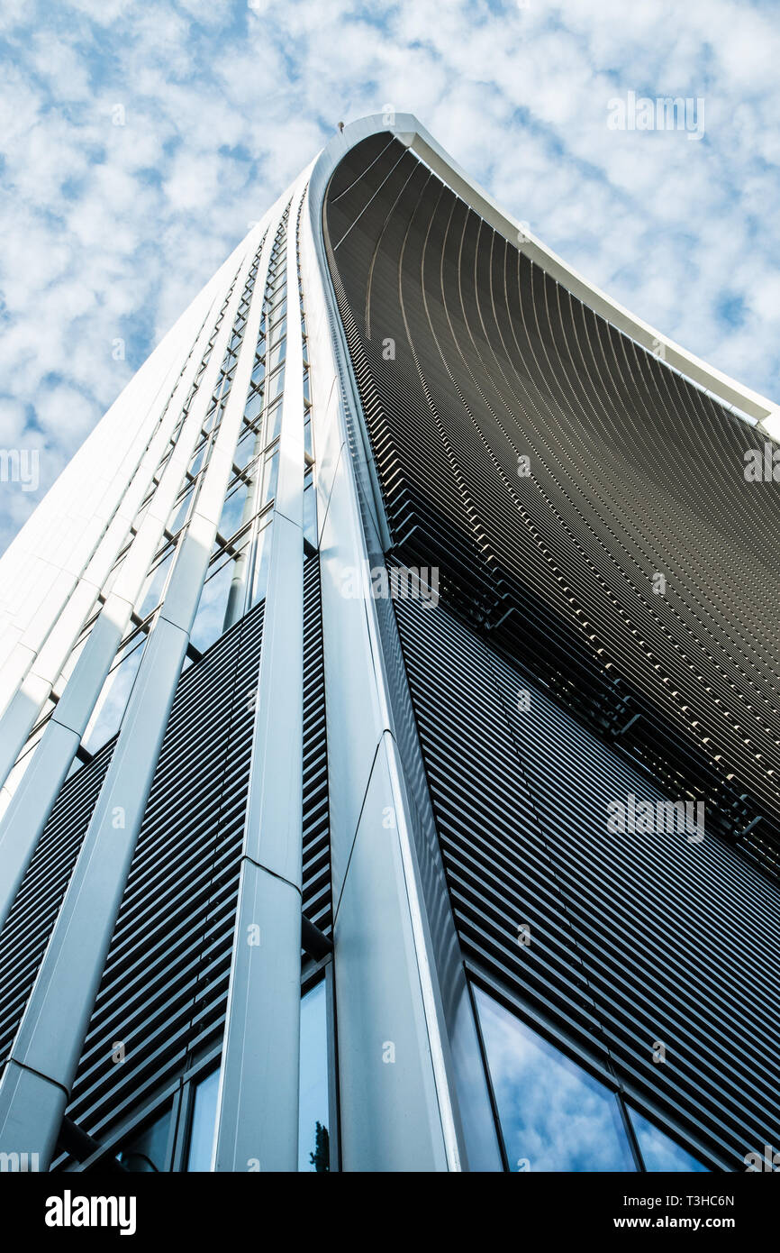 The 'Walkie Talkie' building - The Sky Gardens On Fenchurch Street London - Stock Image