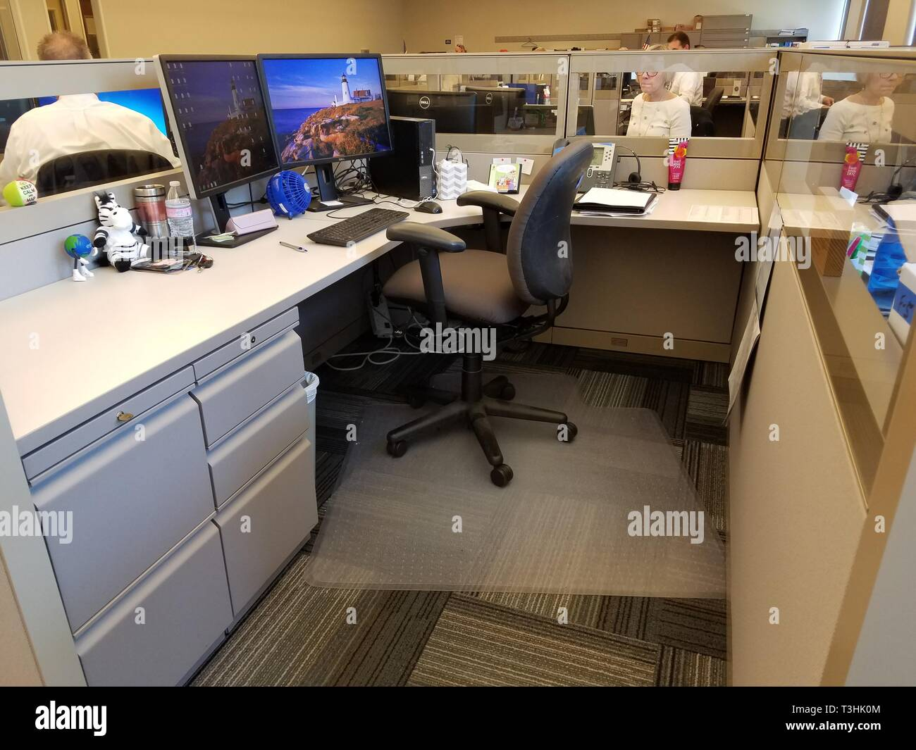Office Cubicle - Stock Image