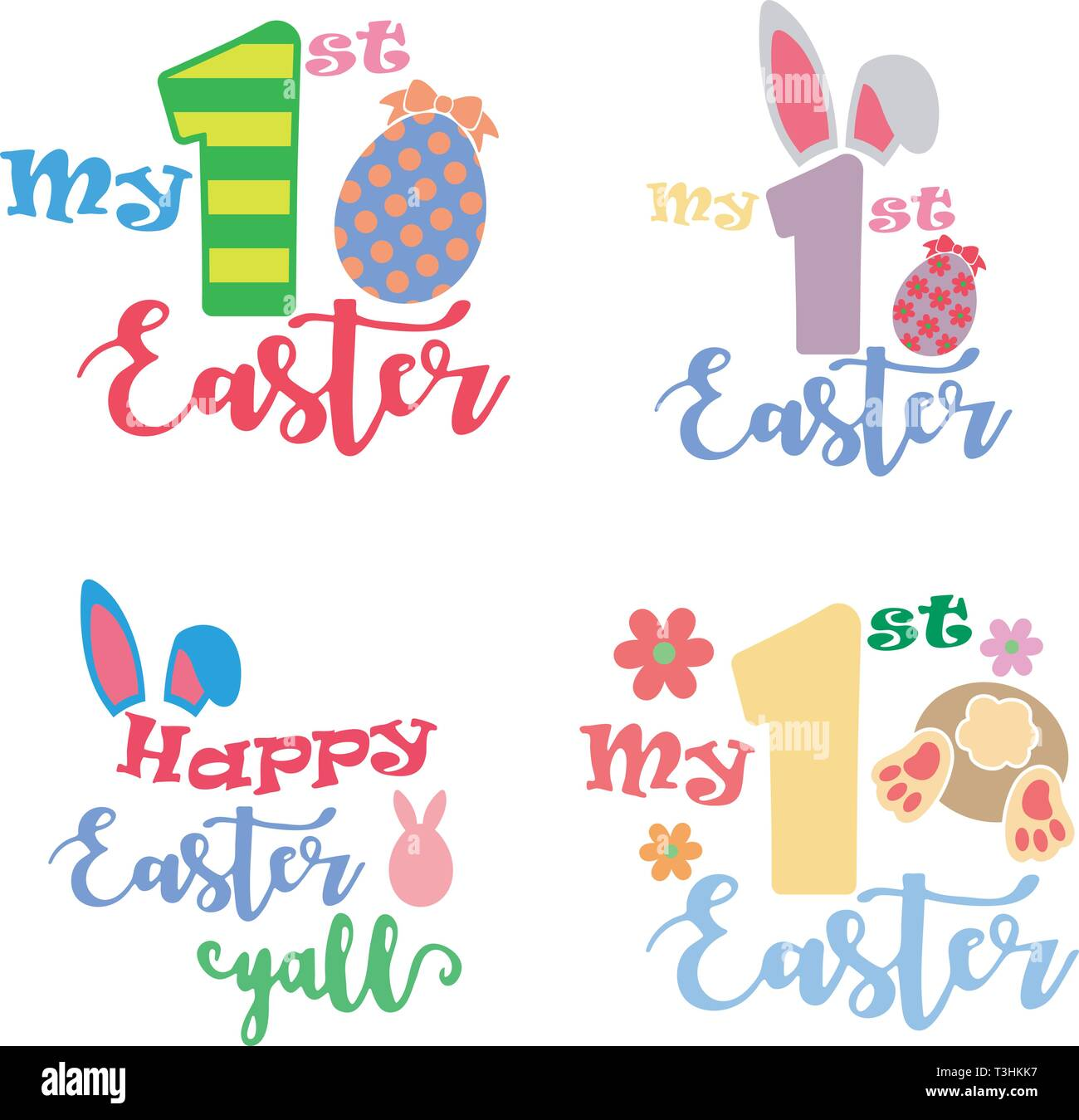 My First Easter Set - Stock Vector