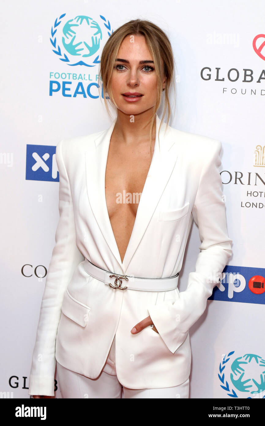 Kimberley Garner at the Football for Peace initiative dinner by Global Gift Foundation,London, UK.   8th April 2019 - Stock Image