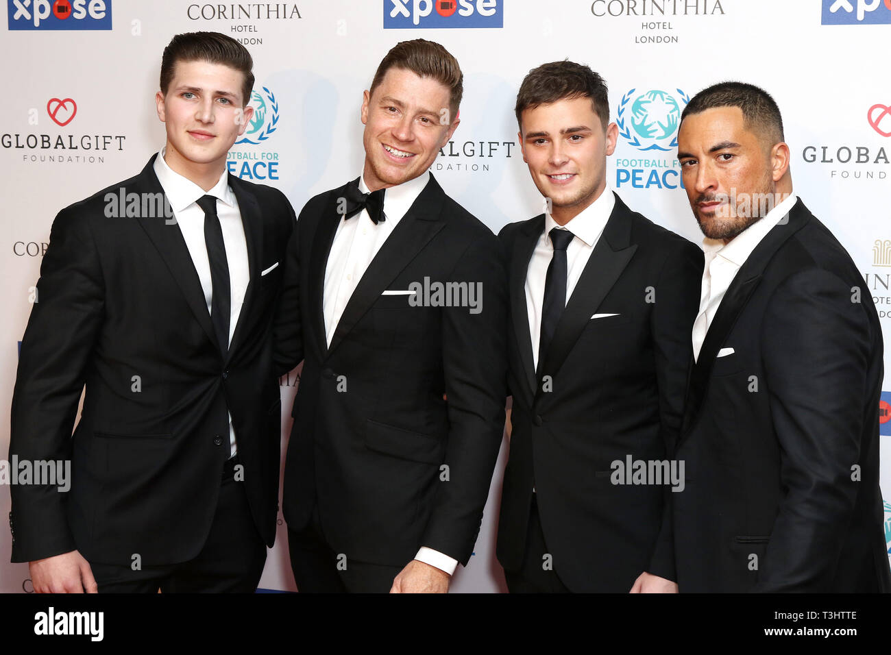 Jack Pack Band at the Football for Peace initiative dinner by Global Gift Foundation,London, UK.   8th April 2019 - Stock Image